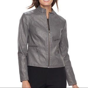 Apt 9 Faux Leather Jacket size Medium